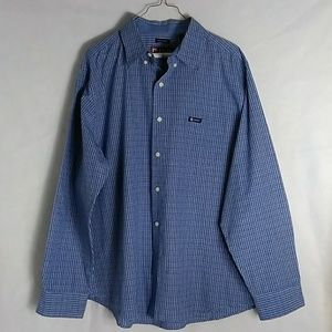 👍Chaps Men's Blue Casual Shirt